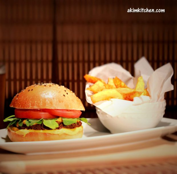 burger végétarien vegan lentille