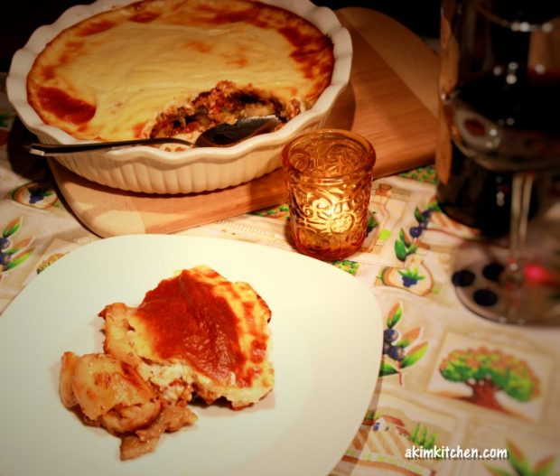 moussaka grec aubergine courgette