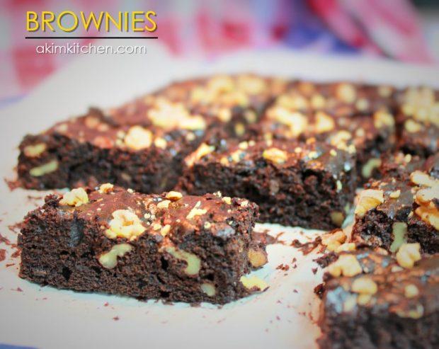 brownies chocolat banane noix