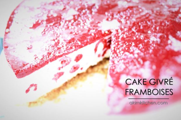 cake gâteau glacé givré framboise mascarpone