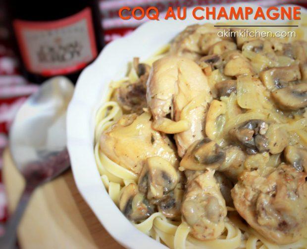 coq au champagne poulet crème champignon
